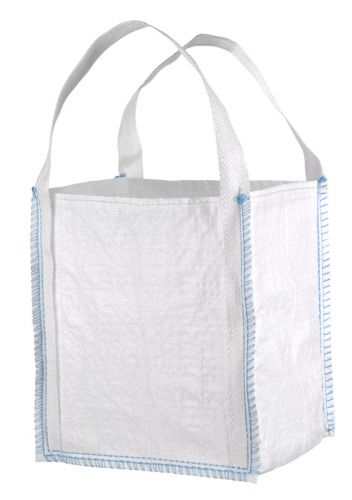 Mini Big Bag 40x40x45 cm, 2 Hebeschlaufen, geschlossener Boden weiß