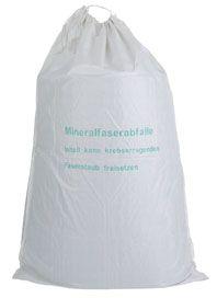 KMF-Sack, mit Aufdruck Mineralfaserabfälle, 140x220cm,1200 Liter