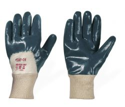 Nitril-Handschuhe NAVYSTAR blau,teilbeschichtet, 100% Baumwolle