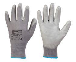 Feinstrick-Polyester-Handschuhe GREYGRIP, Standard-Qualität