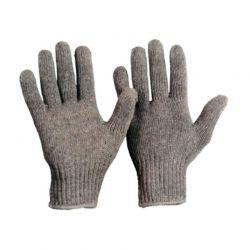 Baumwoll-Strickhandschuh Herrengröße Grau
