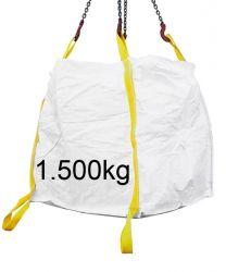 Big Bag 90x90x90 cm, zwei Zusatzschlaufen am Boden 1500kg breite Schlaufen
