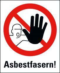 Asbest-Warntafel 650x500mm