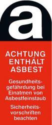 Asbest-Aufkleber 110x50mm ACHTUNG