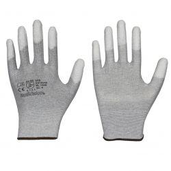 ESD Feinstrick-Handschuh / Fingerkuppen PU-Beschichtung