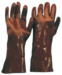 PVC-Handschuh / rotbraun / CE CAT 3 / 45 cm / Typ A