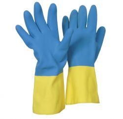 Heveaprene-Handschuh / CE CAT 3 / blau/gelb / Länge: ~32 cm / Stärke: ~0,66 mm