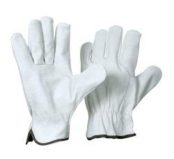 Fahrer-Handschuh Nappaleder / ungefüttert / natur