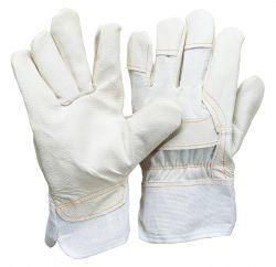 Polsterlederhandschuh / Innenhand aus einem Stück / nur helle Farben sortiert / gefüttert