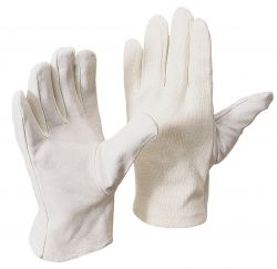 Nappaleder-Handschuh mit BW-Trikotrücken
