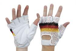 Fahrradfahrer-Handschuh Nappaleder mit Verstärkung