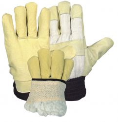Winterhandschuh / Damengr. / Polyacrylfutter im Handsch. / Strickbund Moltonfutter / gelb