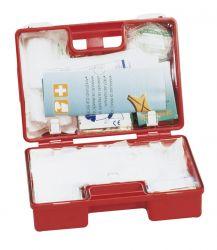 Erste-Hilfe-Koffer 'Quick', gefüllt, DIN 13157 mit Wandhalterung, Maße: 26 x 17 x 11 cm