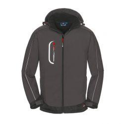 Softshell-Jacke MONTANA / PROTECT Workwear / grau-schwarz