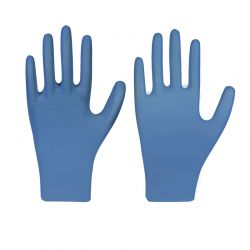 Nitril-Einmalschutzhandschuh / COMFORT PLUS / blau / puderfrei / Box à 100 Stück