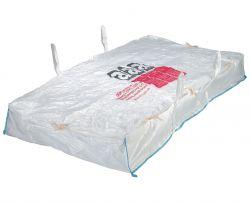 Asbestplattenbag 260x125x30 cm, mit Asbestaufdruck, PP-Gewebe, 1500kg