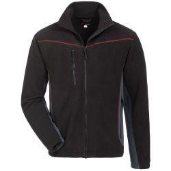 BEKASINE Fleece-Jacke / schwarz-grau / Gr. S - XXXXL