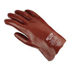 Chemikalienschutz-Handschuh / PVC rotbraun / texxor