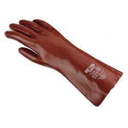 Chemikalienschutz-Handschuh PVC / texxor / 45cm Länge / rotbraun