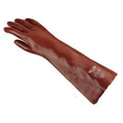 Chemikalienschutz-Handschuh PVC / texxor / 58cm Länge / rotbraun
