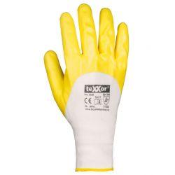 Polyester-Strickhandschuhe NITRIL-beschichtet / texxor / Gelb / 2358