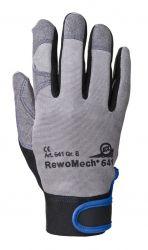 Handschuhe RewoMech 641, Kunstleder/ Elastan/Tyvek, Klettversch.