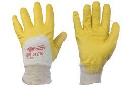Nitril-Handschuhe mit Strickbund, Profi Qualität, YELLOWSTAR