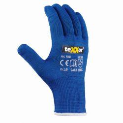 Schnittschutz-Strickhandschuh Polyester Texxor Blau